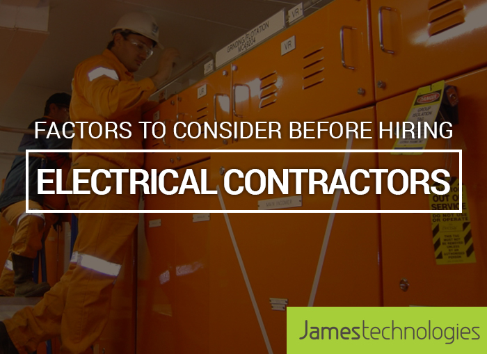 Factors to consider before hiring electrical contractors