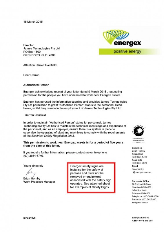 Energex Authorisation - Darren Caulfield_Page_1